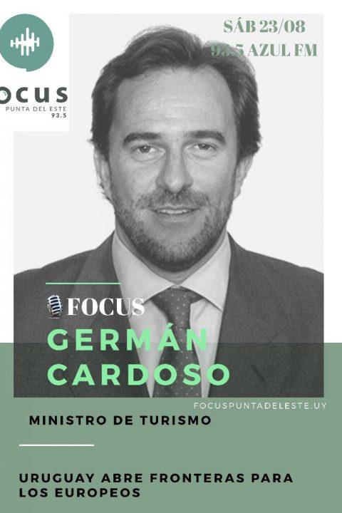 Ministro de Turismo Germán Cardoso: De los 25 mil argentinos que ingresaron a Uruguay, 15 mil están en Maldonado.